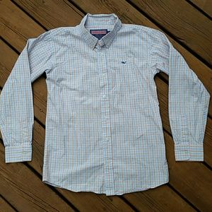 Vineyard Vines boys whale shirt size L